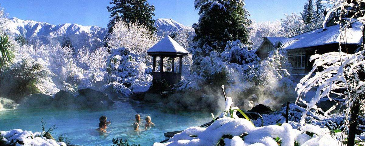 Горячие источники зимой