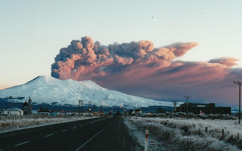 Извержение вулкана Руапеху