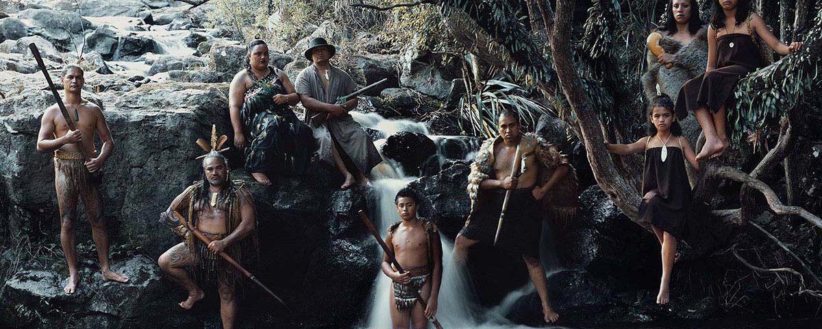 Маорийцы в традиционных нарядах