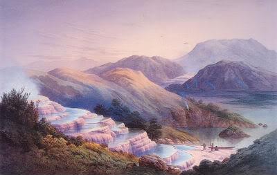 Розовые террасы озера Ротомахана