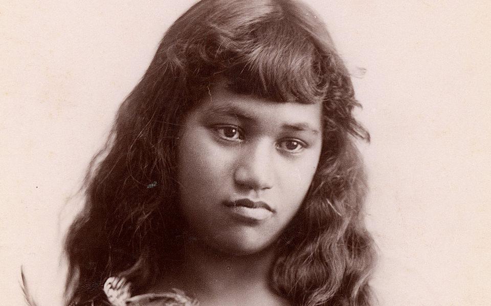 Фотопортрет маорийки