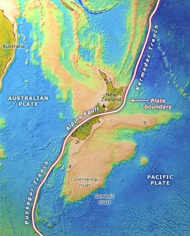 Сейсмическая активность в Новой Зеландии