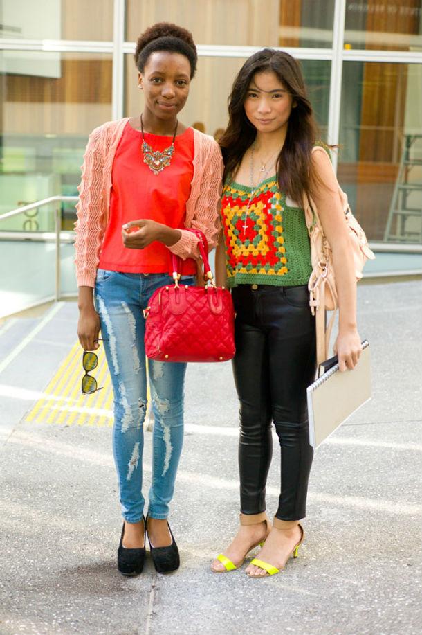 Такунда и Кристелль, студентки факультета моды в Оклендском университете технологий.