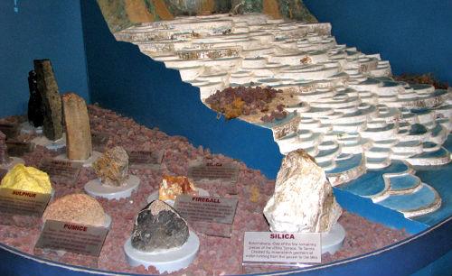 Модель террас в городском музее Роторуа