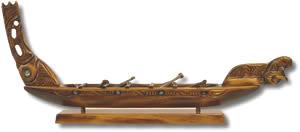 Маорийское каноэ (вака)