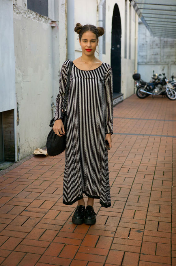 Ясмин в платье от Трелис Купер. Окленд.