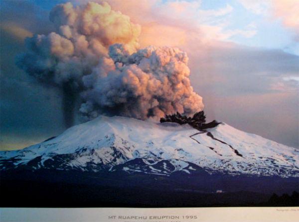 Извержение вулкана Руапеху в 1995 году