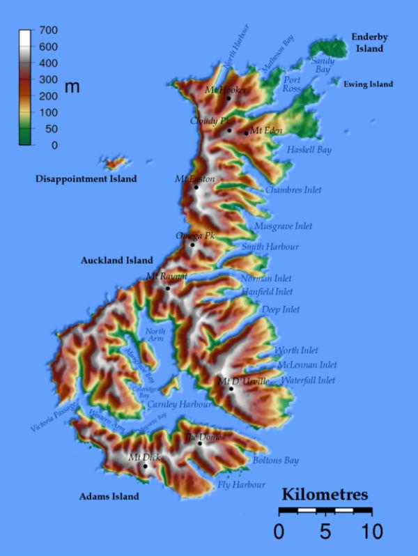 Острова архипелага Окленд