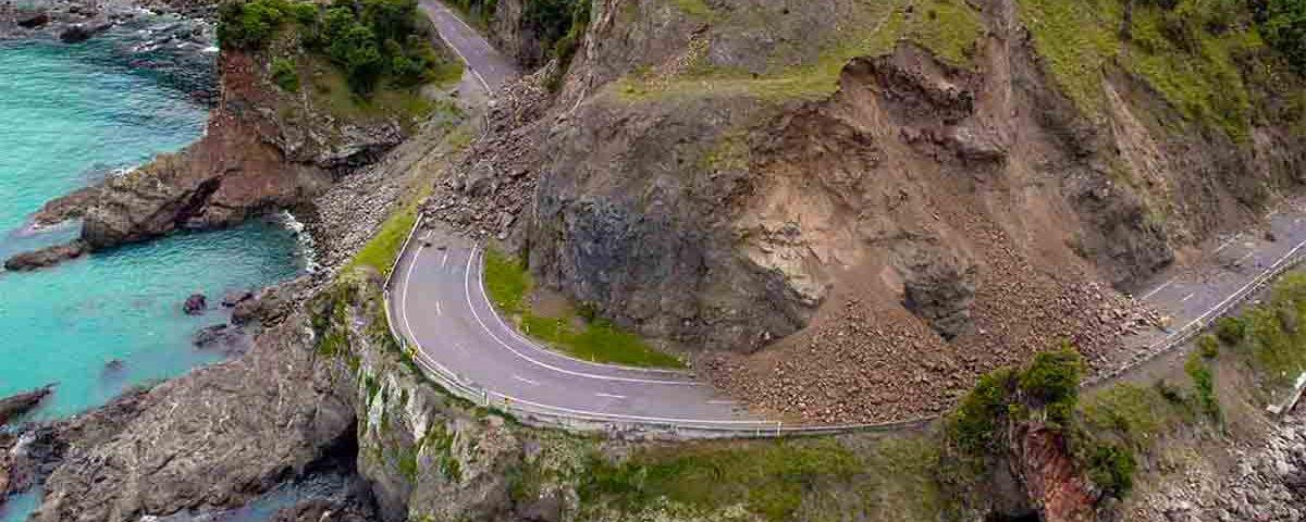Рельеф после землетрясения