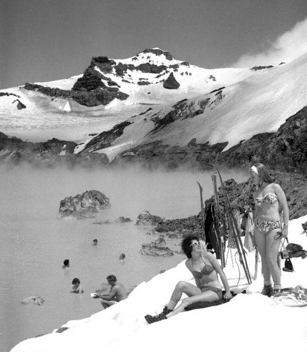Кратерное озеро у вулкана Руапеху