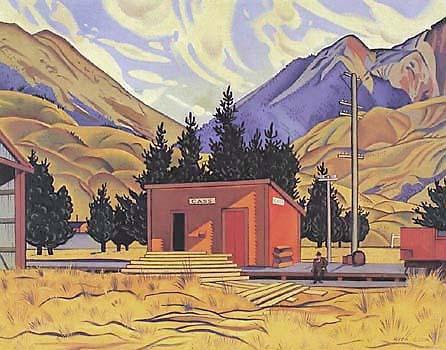 Железнодорожная станция Кэсс - картина Риты Ангус