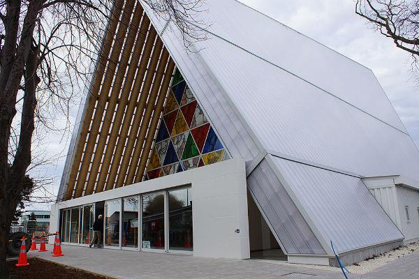Transitional Cardboard Cathedral, Крайстчерч, Новая Зеландия