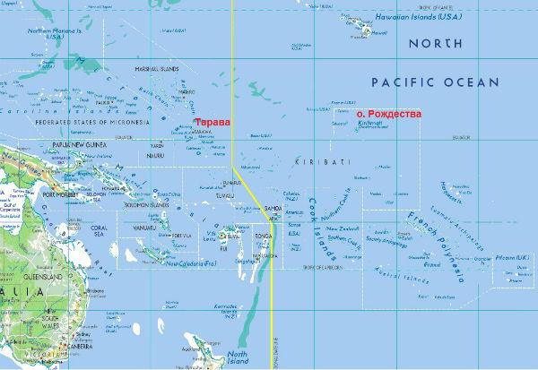Карта Кирибати