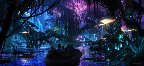 """Первые эскизы парка развлечений по мотивам фильма """"Аватар"""""""