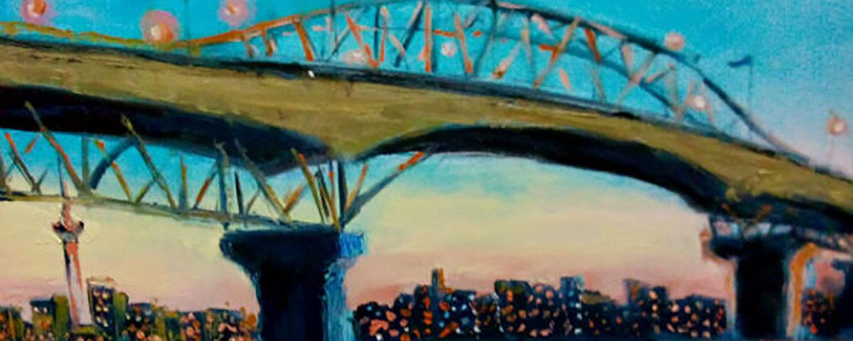 Оклендский мост на картине